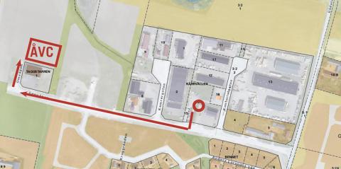 Karta Återvinningscentralen i Genarp