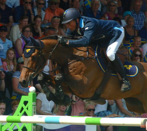 OS-ekipaget Jens Fredricson – Lunatic tävlar i hopp-SM i Borås.