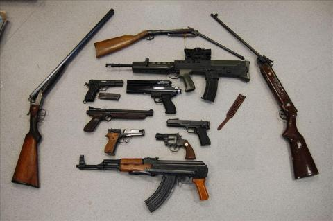 Image of firearms handed in during the surrender