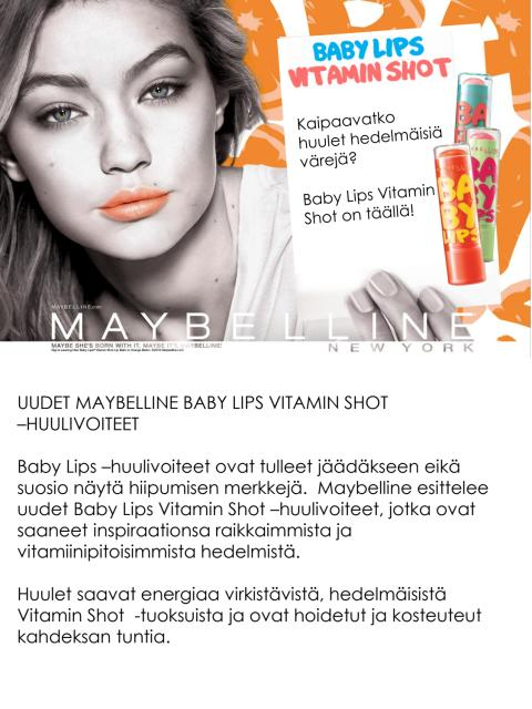 Maybelline Baby Lips Vitamin Shot