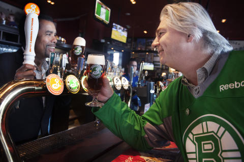 Garrett Oliver, Brewmaster Brooklyn Brewery och Jonas Reinholdsson, grundare O´Learys