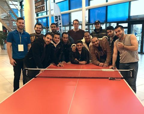 Tack alla nyanlända som hjälpte till under OS-kvalet i bordtennis i Halmstad