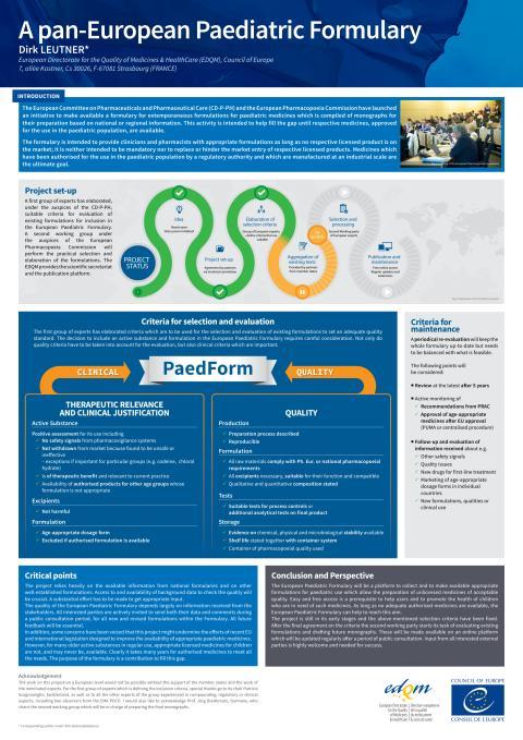 Poster Pan European Paediatric Formulary