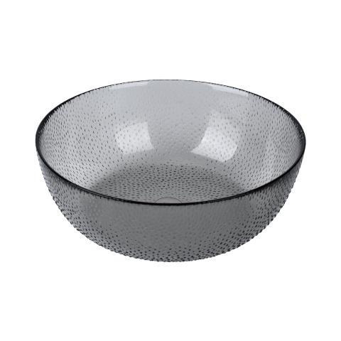 aida - RAW glass beads, skål, smoke, D 26,5 cm, H 9 cm, vejl. pris 169,- DKK