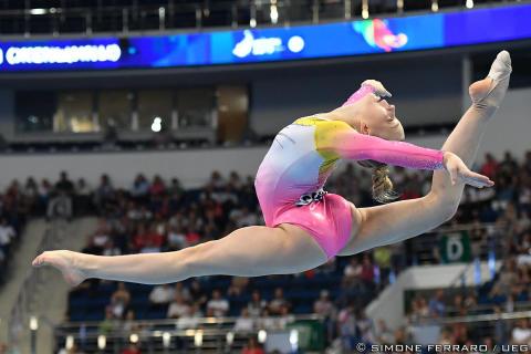 Jessica Castles i fristående på Europeiska Spelen 2019