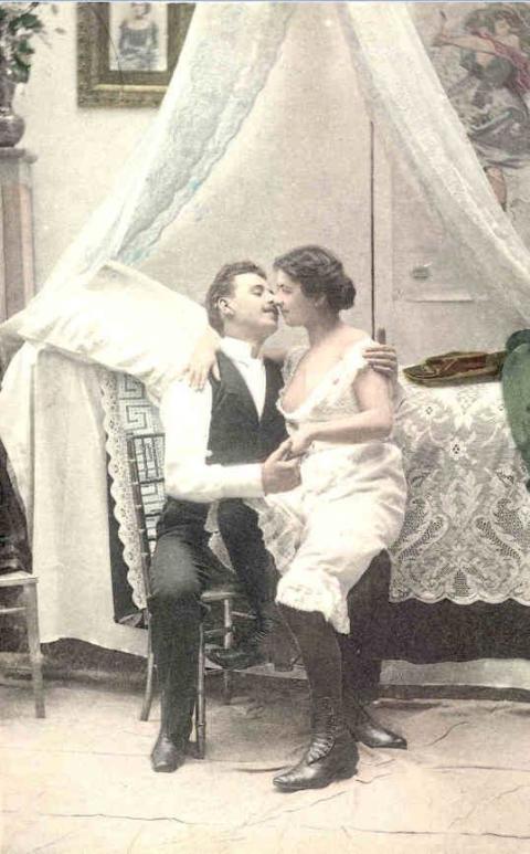 """Postkort fra serien """"Bryllupsnatten"""""""