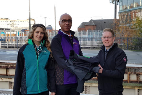 ​Railway staff donate over ten tonnes of old uniform to The Salvation Army