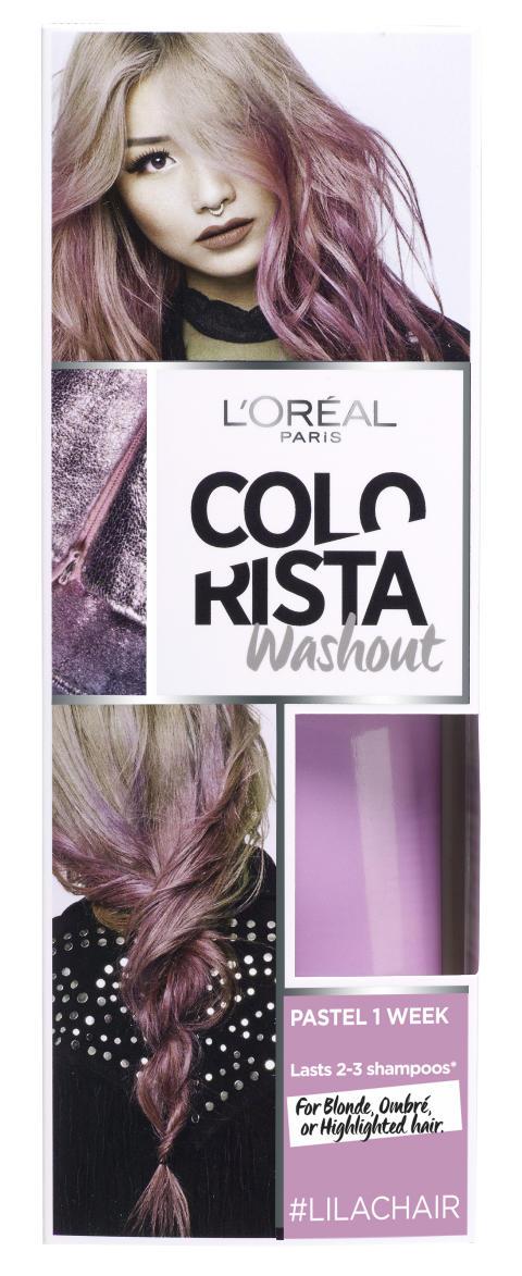 L'Oréal Paris Colorista Wash Out #Lilachair väliaikainen poispestävä hiusväri