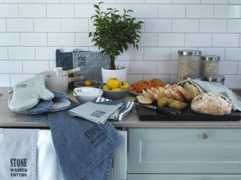 Oven glove, pan holder, kitchen towel, napkin Stockholm
