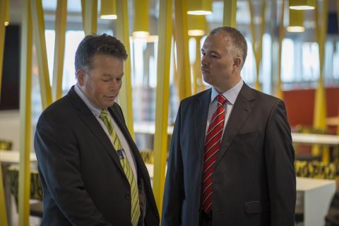 Ivan S. Larsen, Sales Manager FAYARD A/S og Søren Poulsgaard Jensen, CEO Scandlines