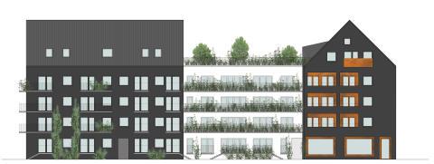 Maximal kvartersmix i Sorgenfri med 150 nya bostäder