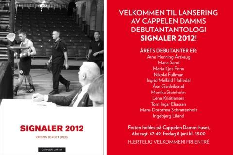 Velkommen til lansering av Cappelen Damms debutantantologi Signaler 2012