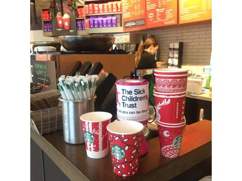We're a chosen charity for Starbucks' #RedCupCheer! Help us win £1,000
