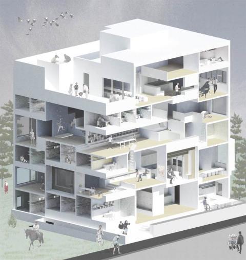 Arkitektstudenten Hannes Eriksson frågar oss: Hur vill vi bo och leva? Bild: Hannes Eriksson.