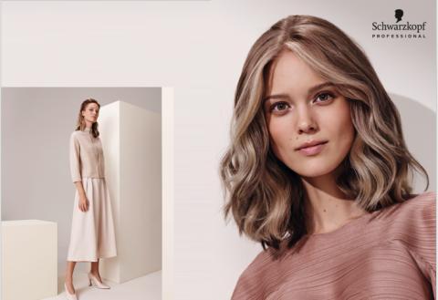 Kalla och elegant beiga & mjukt gråa nyanser med en pudrig finish i IGORA färgsortimentet från Schwarzkopf Professional