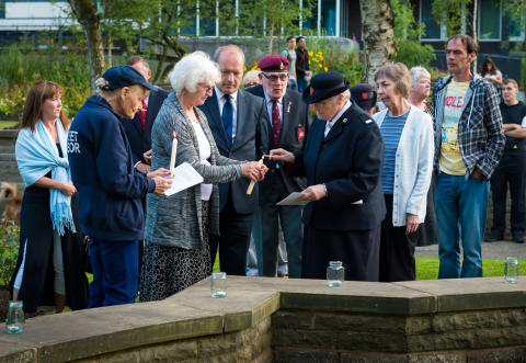 Fallen soldiers remembered in town centre service