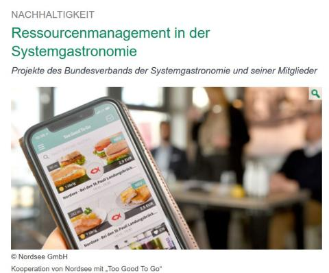 Corporate Social Responsibility - Kooperation von Nordsee mit Too Good To Go
