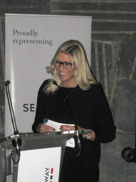 Hildegunn Fure Osmundsvåg under sjømatseminaret i Madrid