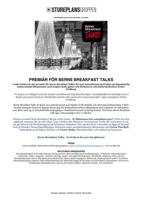 PRM - Berns Breakfast Talk