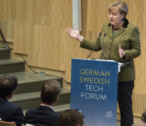 Angela Merkel beim German Swedish Tech Forum