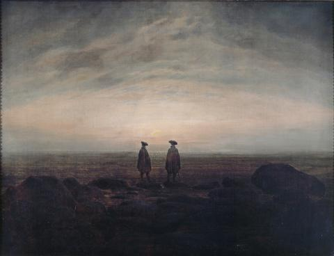 Alene med naturen. Caspar David Friedrich, To menn ved havet, 1817
