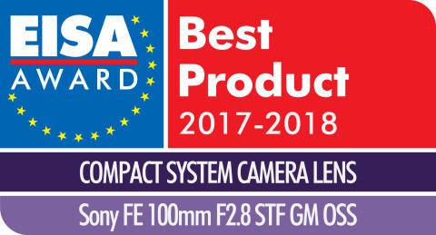 EISA Award Logo Sony 100mm F2.9 STF GM OSS
