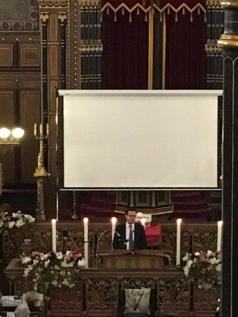 Tal på Förintelsens minnesdag av ordförande för Judiska Centralrådet