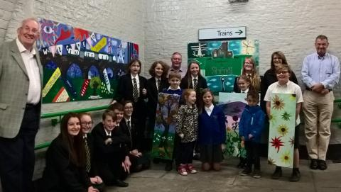 ​Children help create brighter welcome at Shifnal station