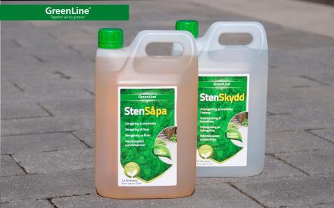 Håll din stenuppfart ren med såpa och impregnering!