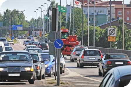 Den tunga trafiken på Västra Esplanaden har minskat