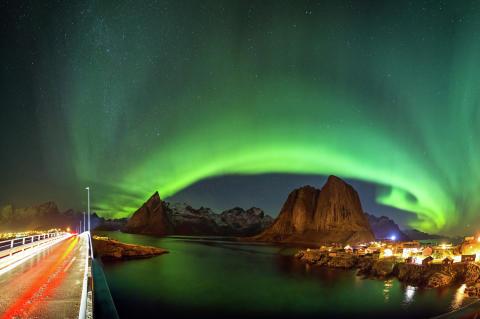 Nordlicht in Nordnorwegen