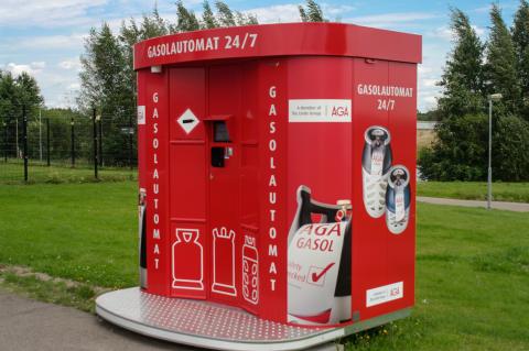 Gasol dygnet runt med gasolautomater från AGA