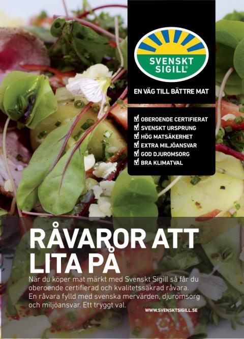 Konsumentflyer - sommmarsallad med potatis och jordgubbar