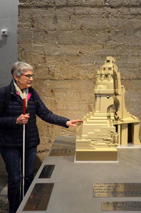 Leipzig barrierefrei erleben - 3D-Tastmodell des Völkerschlachtdenkmals