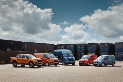 Ford nyttekjøretøy range lineup utvalg 2018