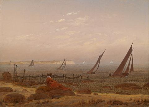 Alene med naturen. Caspar David Friedrich, Kvinne ved havet, ca. 1818