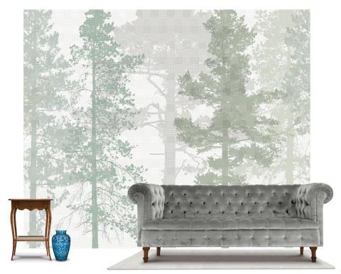 Scandinavian Surface - Weaving Wood cool green