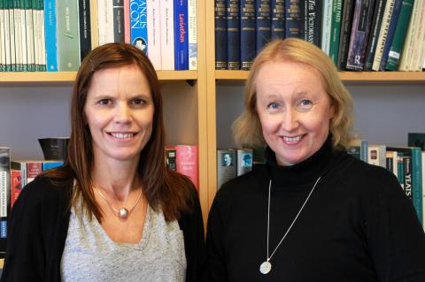 Erica Sandlund och Pia Sundqvist, docenter i engelska, forskargruppen ROSE.