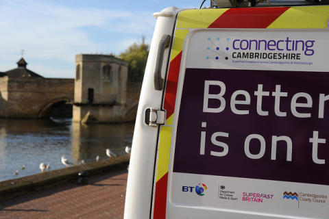 Superfast broadband rollout surges ahead in Cambridgeshire and Peterborough
