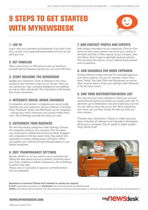 9 hurtige trin til at komme i gang med Mynewsdesk