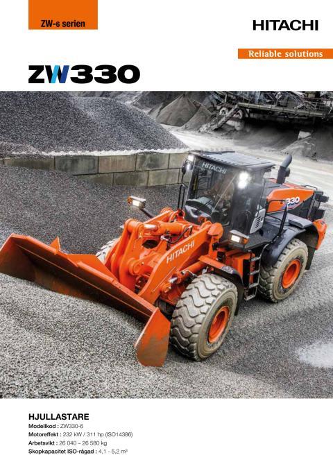 Hitachi hjullastare ZW330-6