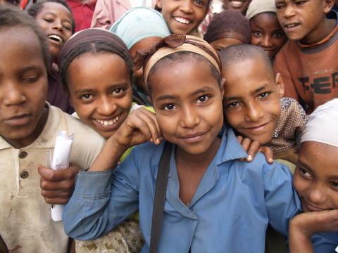 Stolt tjej Etiopien