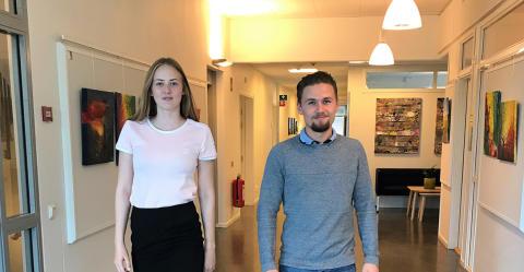 Ebba och Jonas fick testa ingenjörsyrket på Hogia