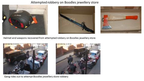 Moped bandits who armed themselves with axes, samurai swords and zombie knives convicted of robberies, burglaries and phone snatches