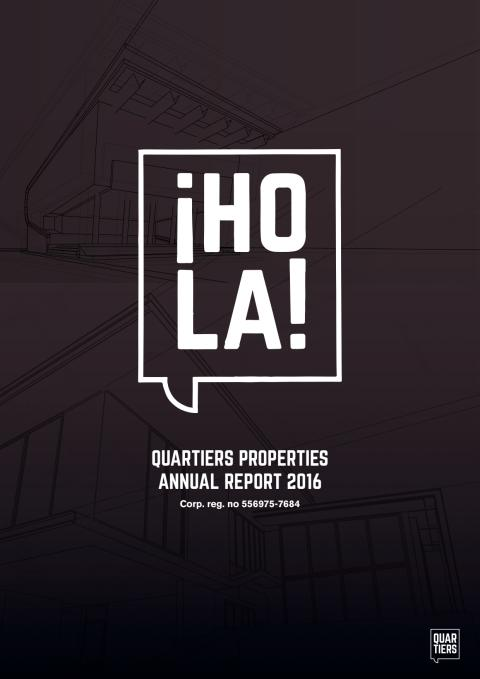 Quartiers Properties - Annual Report 2016