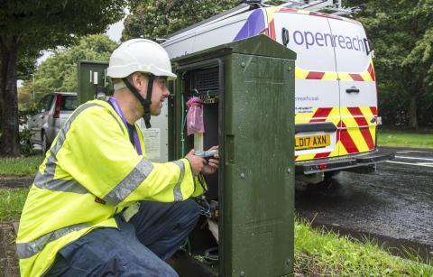 Openreach builds ultrafast broadband network to 81 new locations