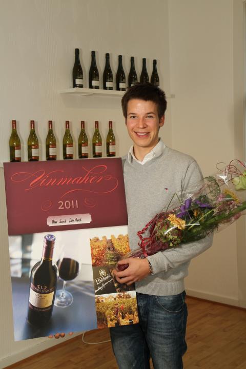 Den lykkelige vinneren Peter Sand Dørstad
