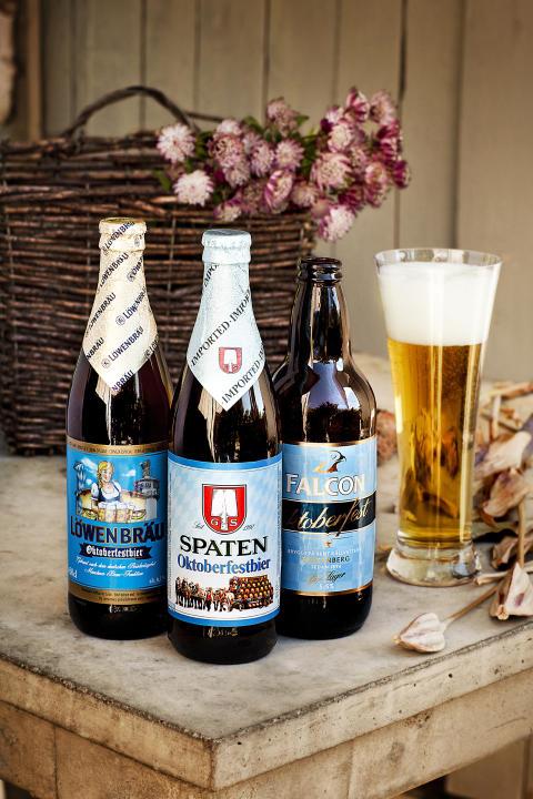 Oktoberfestöl från Spaten, Löwenbräu och Falcon