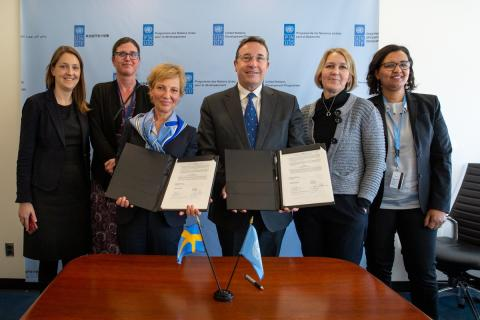 UNDP välkomnar flerårigt kärnstöd från Sverige