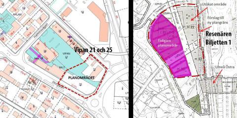 Två detaljplaner på gång vid Umeå Östra